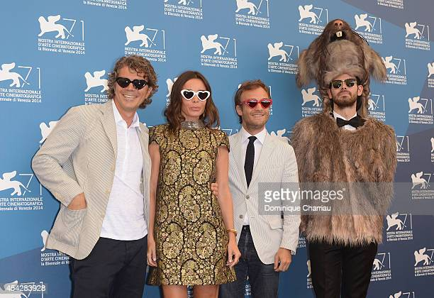 Producer Gregory Bernard actors Elodie Bouchez and Jonathan Lambert and the Rat attend 'Reality' Photocall during the 71st Venice Film Festival on...