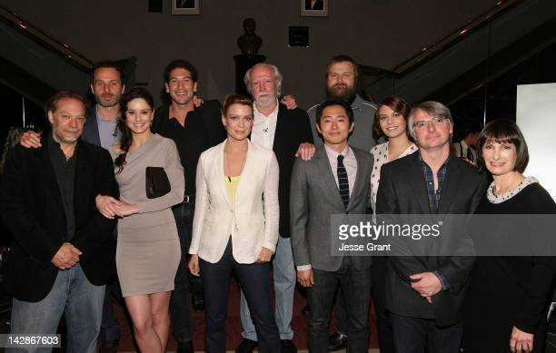 Producer Gregory Nicotero actor Andrew Lincoln actress Sarah Wayne Callies actor Jon Bernthal actress Laurie Holden actor Scott Wilson actor Steven...