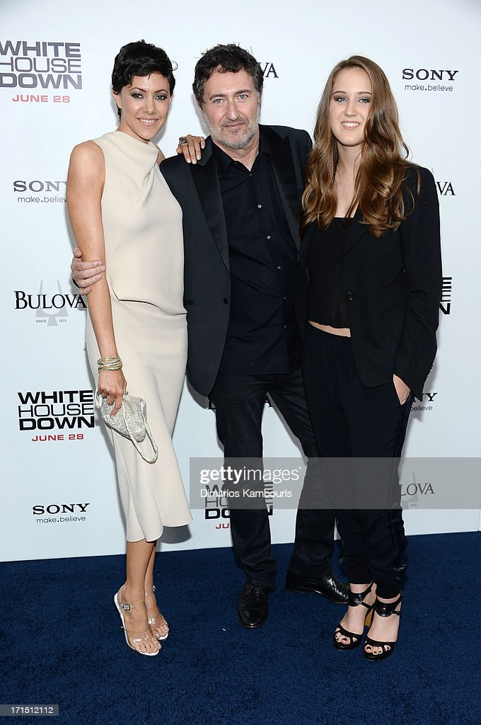 Producer Harald Kloser (C) attends 'White House Down' New York premiere at Ziegfeld Theater on June 25, 2013 in New York City.