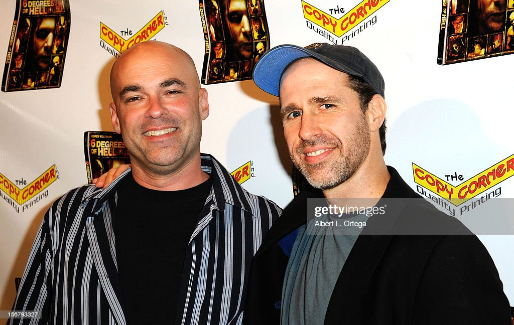 Producer Harrison Smith and producer Brian Gallagher arrive for the Premiere Of '6 Degrees Of Hell' - Arrivals held at Laemmle Music Hall 3 on November 20, 2012 in Beverly Hills, California.