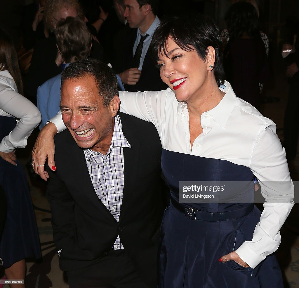TV producer Harvey Levin (L) and TV personality <a gi-track='captionPersonalityLinkClicked' href=/galleries/search?phrase=Kris+Jenner&family=editorial&specificpeople=762610 ng-click='$event.stopPropagation()'>Kris Jenner</a> attend the Brady Campaign To Prevent Gun Violence 2013 Los Angeles Benefit Event at the Beverly Hills Hotel on May 7, 2013 in Beverly Hills, California.