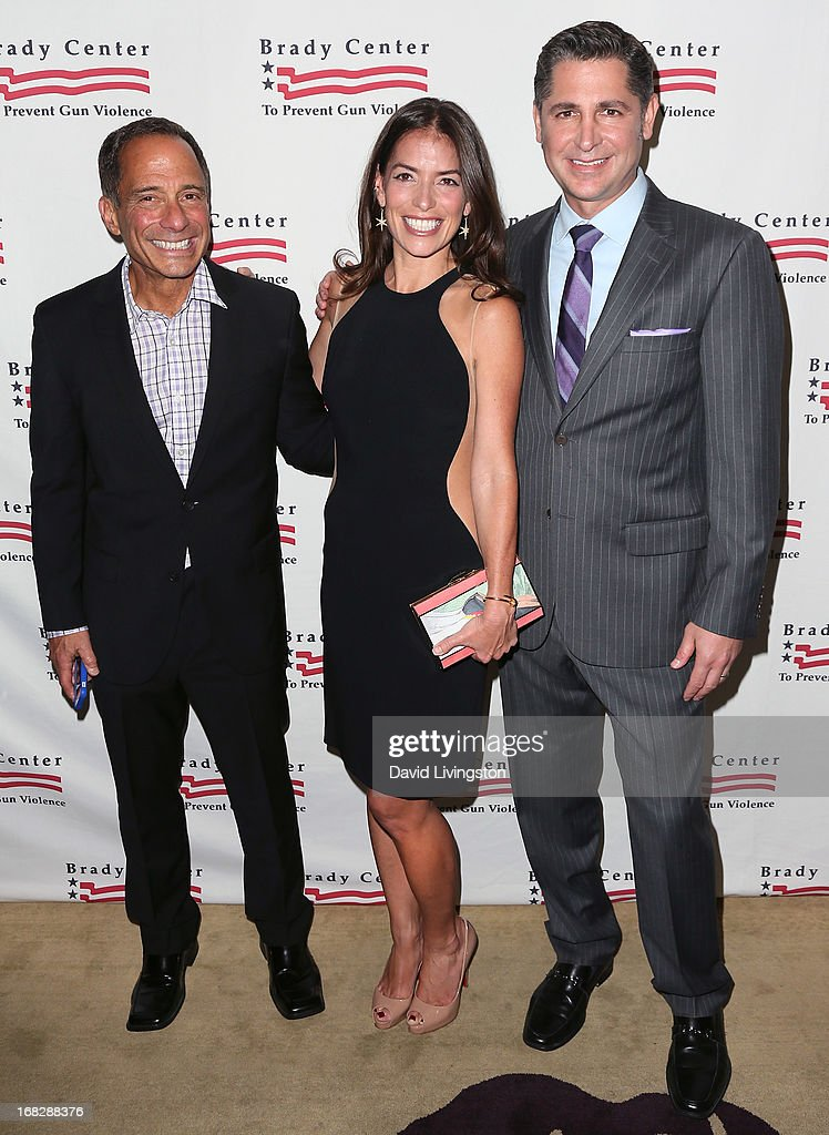 TV producer Harvey Levin, attorney Laura Wasser and Brady Campaign president Dan Gross attend the Brady Campaign To Prevent Gun Violence 2013 Los Angeles Benefit Event at the Beverly Hills Hotel on May 7, 2013 in Beverly Hills, California.