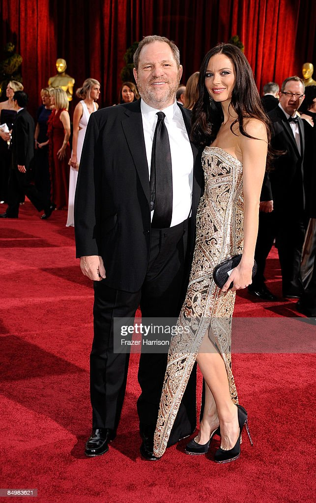 Producer Harvey Weinstein and Georgina Chapman arrive at the 81st Annual Academy Awards held at Kodak Theatre on February 22, 2009 in Los Angeles, California.