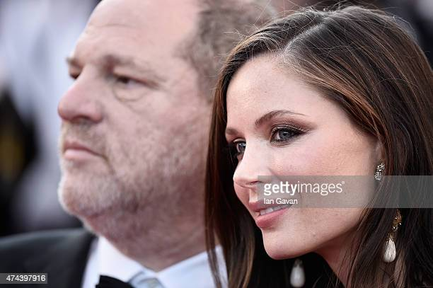 Producer Harvey Weinstein and Georgina Chapman attend the Premiere of 'The Little Prince' during the 68th annual Cannes Film Festival on May 22 2015...