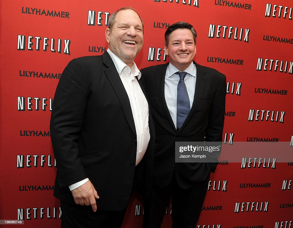Producer Harvey Weinstein and Netflix Chief Content Officer Ted Sarandos attend the North American Premiere Of 'Lilyhammer' a Netflix Original Series...