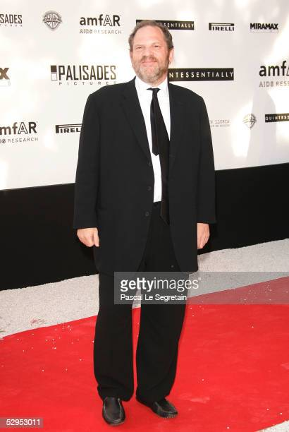 Producer Harvey Weinstein arrives at 'Cinema Against AIDS 2005' the 12th annual event in aid of amfAR at Le Moulin de Mougins at the 58th Cannes Film...