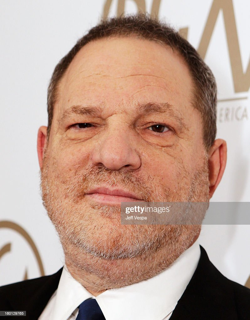 Producer Harvey Weinstein arrives at the 24th Annual Producers Guild Awards held at The Beverly Hilton Hotel on January 26, 2013 in Beverly Hills, California.