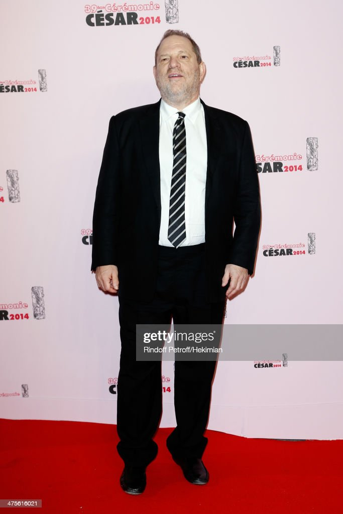 Producer Harvey Weinstein arrives for the 39th Cesar Film Awards 2014 at Theatre du Chatelet on February 28, 2014 in Paris, France.