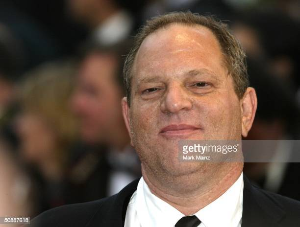 Producer Harvey Weinstein arrives to the closing night ceremony and the screening of 'DeLovely' during the 57th Cannes Film Festival on May 22 2004...