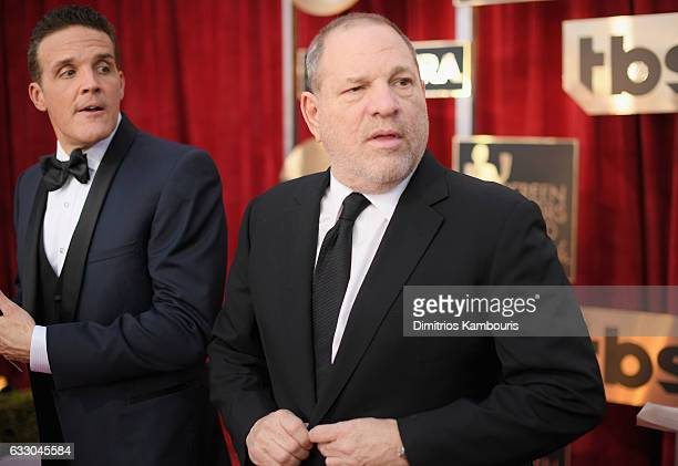 Producer Harvey Weinstein attends The 23rd Annual Screen Actors Guild Awards at The Shrine Auditorium on January 29 2017 in Los Angeles California...