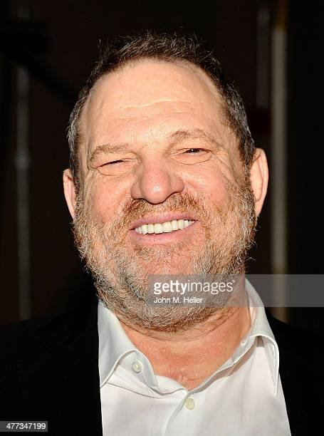 Producer Harvey Weinstein attends the 38th Annual UCLA Entertainment Symposium in Mcgowan Hall at UCLA on March 8 2014 in Los Angeles California