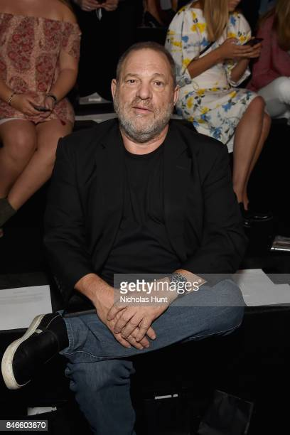 Producer Harvey Weinstein attends the Marchesa fashion show during New York Fashion Week The Shows at Gallery 1 Skylight Clarkson Sq on September 13...