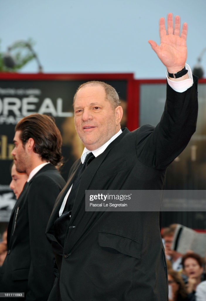 Producer <a gi-track='captionPersonalityLinkClicked' href=/galleries/search?phrase=Harvey+Weinstein&family=editorial&specificpeople=201749 ng-click='$event.stopPropagation()'>Harvey Weinstein</a> attends 'The Master' Premiere during The 69th Venice Film Festival at the Palazzo del Cinema on September 1, 2012 in Venice, Italy.