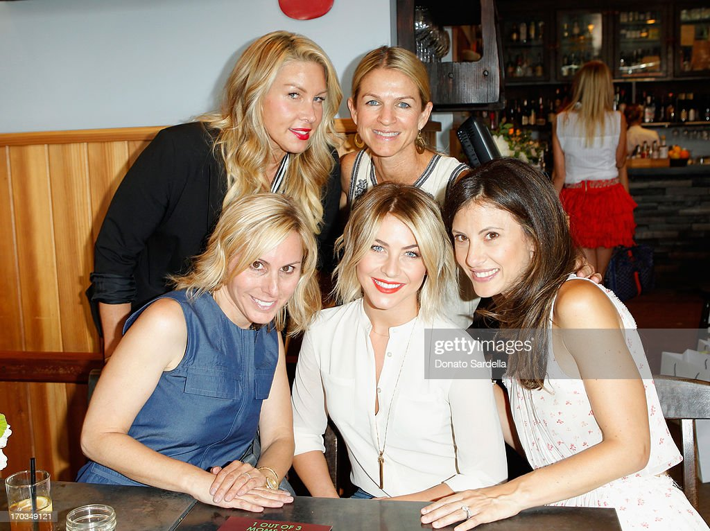 Producer Heather Parry, Crystal Lourd (bottom L-R) Stacy Cramer, actress Julianne Hough and Baby2Baby Co-Chair Norah Weinstein attend the Paper Denim & Cloth and Baby2Baby Luncheon at Son Of A Gun on June 11, 2013 in Los Angeles, California.