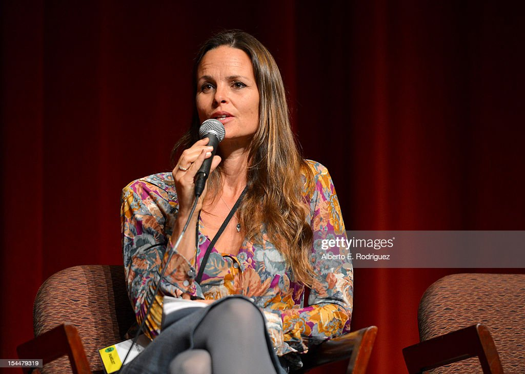 Producer Heather Rae speaks onstage during the Film Independent Film Forum at Directors Guild of America on October 20 2012 in Los Angeles California