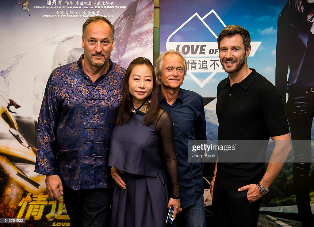 Producer Helmut Hartl (L-R), director Danqing Tang, producer Tom Wommer and actor <a gi-track='captionPersonalityLinkClicked' href=/galleries/search?phrase=Jochen+Schropp&family=editorial&specificpeople=4480271 ng-click='$event.stopPropagation()'>Jochen Schropp</a> attend a press conference about the movie 'Love of Alps (AT)' during the Munich Film Festival 2016 at Ampere-Muffatwerk on June 30, 2016 in Munich, Germany.