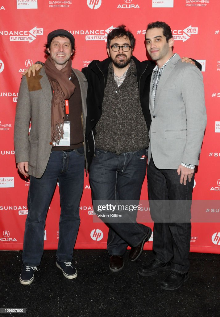 Producer Houston King, director Andrew Bujalski and producer Alex Lipschultz attend 'Computer Chess' Premiere - 2013 Sundance Film Festival at Library Center Theater on January 21, 2013 in Park City, Utah.