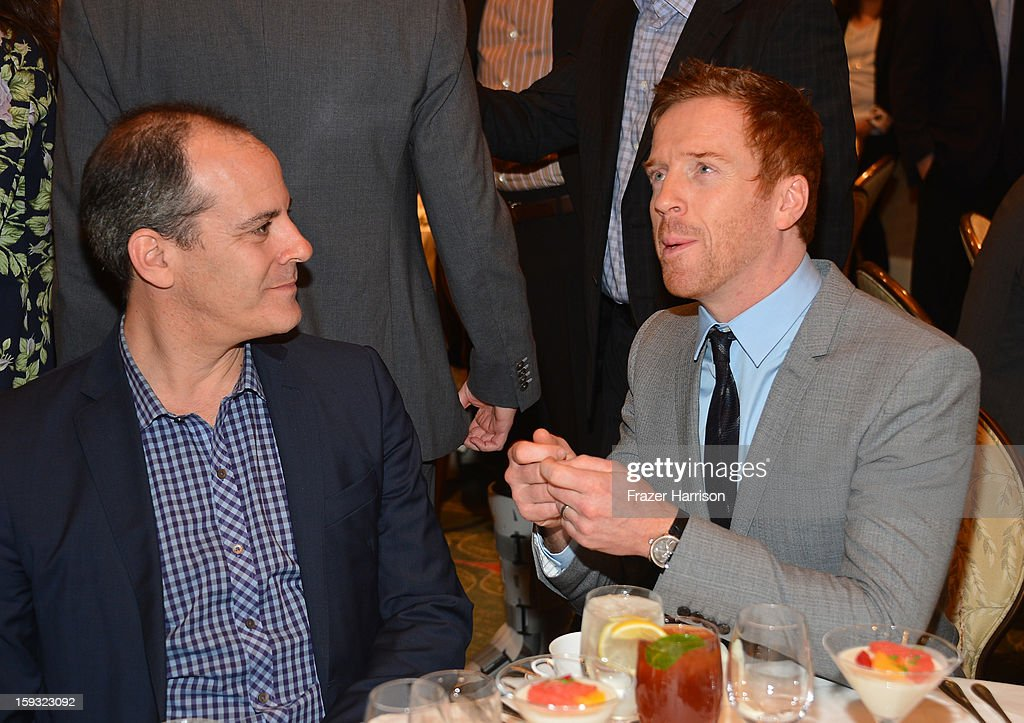 Producer Howard Gordon and actor Damian Lewis attend the 13th Annual AFI Awards at Four Seasons Los Angeles at Beverly Hills on January 11, 2013 in Beverly Hills, California.