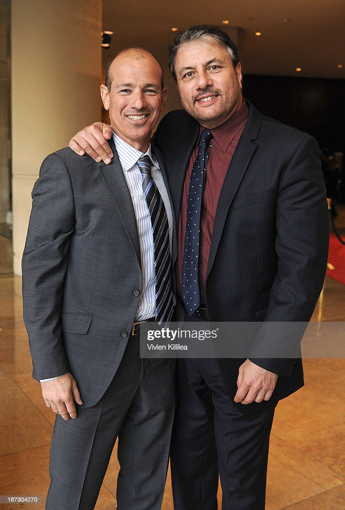 Producer Howard Gordon and executive VP of original programming at Showtime Gary Levin attend Liberty Hill's Upton Sinclair Awards Dinner Honors - Show at The Beverly Hilton Hotel on April 23, 2013 in Beverly Hills, California.