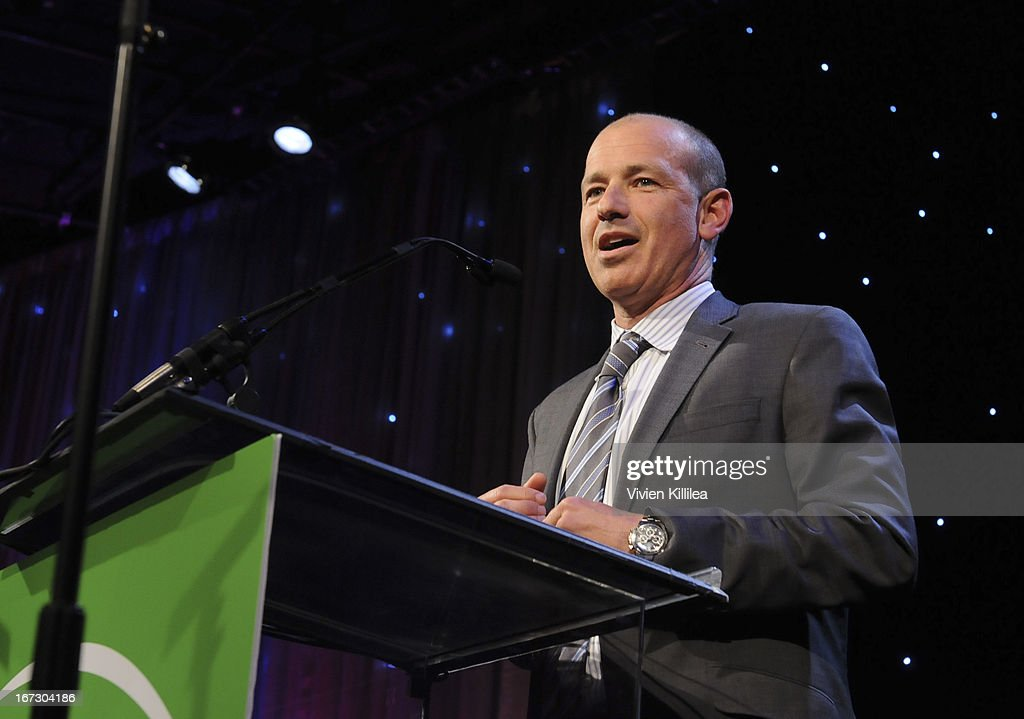 Producer Howard Gordon speaks during Liberty Hill's Upton Sinclair Awards Dinner Honors - Show at The Beverly Hilton Hotel on April 23, 2013 in Beverly Hills, California.