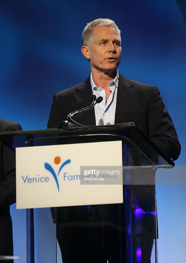 Producer Hutch Parker speaks onstage at the Venice Family Clinic's 32nd Annual Silver Circle Gala held at The Beverly Hilton Hotel on March 3, 2014 in Beverly Hills, California.
