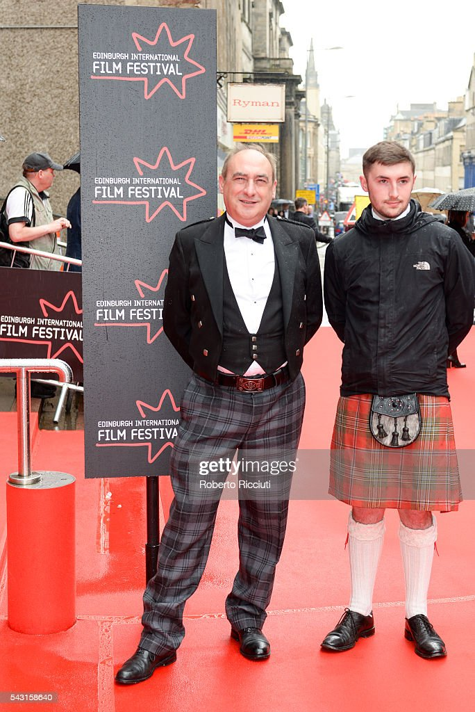 Producer Iain MacLean attends with his son the EIFF Closing Night Gala and World Premiere of 'Whisky Galore!' during the 70th Edinburgh International Film Festival at Festival Theatre on June 26, 2016 in Edinburgh, United Kingdom.