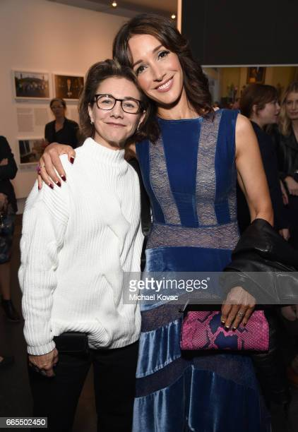 Producer Ilene Chaiken and actor Jennifer Beals at GENERATION WEALTH By Lauren Greenfield at Annenberg Space For Photography on April 6 2017 in...