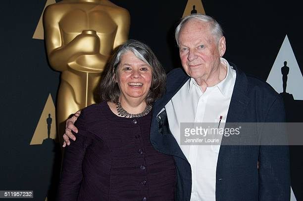 Producer Imogen Sutton and animator Richard Williams arrive at the 88th Annual Academy Awards Oscar Week Celebrates Shorts at the AMPAS Samuel...