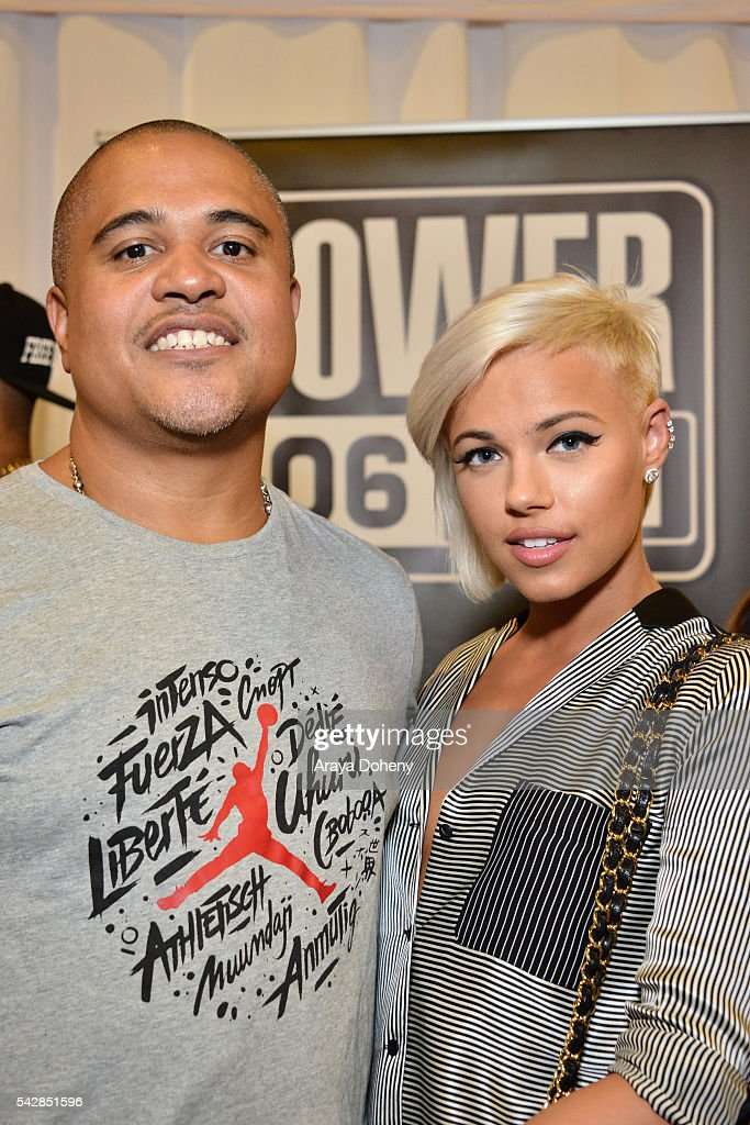 Producer <a gi-track='captionPersonalityLinkClicked' href=/galleries/search?phrase=Irv+Gotti&family=editorial&specificpeople=537749 ng-click='$event.stopPropagation()'>Irv Gotti</a> (L) and recording artist Ashley Martelle attend the radio broadcast center during the 2016 BET Experience at the JW Marriott Los Angeles L.A. Live on June 24, 2016 in Los Angeles, California.