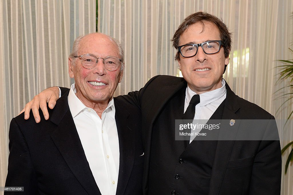 Producer Irwin Winkler (L) and director David O. Russell attend the 14th annual AFI Awards Luncheon at the Four Seasons Hotel Beverly Hills on January 10, 2014 in Beverly Hills, California.