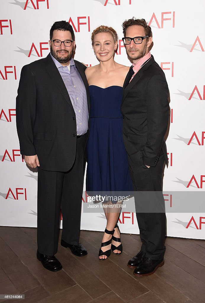 Producer Jack Amiel, actress Juliet Rylance and producer Michael Begler attend the 15th Annual AFI Awards at Four Seasons Hotel Los Angeles at Beverly Hills on January 9, 2015 in Beverly Hills, California.