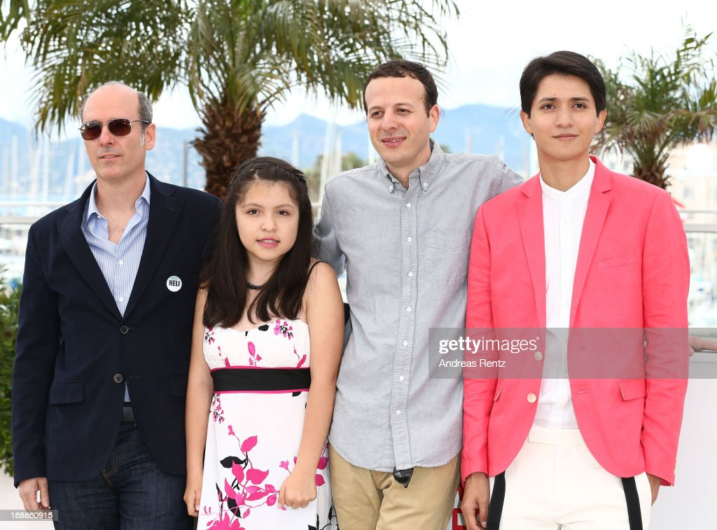 Producer Jaime Romandia, actress Andrea Vergara, director <a gi-track='captionPersonalityLinkClicked' href=/galleries/search?phrase=Amat+Escalante&family=editorial&specificpeople=5350930 ng-click='$event.stopPropagation()'>Amat Escalante</a> and actor <a gi-track='captionPersonalityLinkClicked' href=/galleries/search?phrase=Armando+Espitia&family=editorial&specificpeople=10925422 ng-click='$event.stopPropagation()'>Armando Espitia</a> attend the 'Heli' Photocall during the 66th Annual Cannes Film Festival at the Palais des Festivals on May 16, 2013 in Cannes, France.