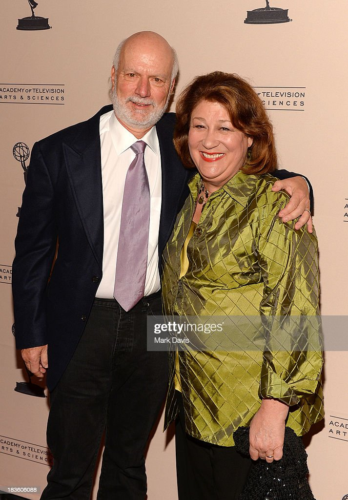 Producer <a gi-track='captionPersonalityLinkClicked' href=/galleries/search?phrase=James+Burrows&family=editorial&specificpeople=799504 ng-click='$event.stopPropagation()'>James Burrows</a> and actress Margo Martindale attend The Academy Of Television Arts & Sciences' Presents An Evening Honoring <a gi-track='captionPersonalityLinkClicked' href=/galleries/search?phrase=James+Burrows&family=editorial&specificpeople=799504 ng-click='$event.stopPropagation()'>James Burrows</a> held at the Academy of Television Arts & Sciences on October 7, 2013 in North Hollywood, California.
