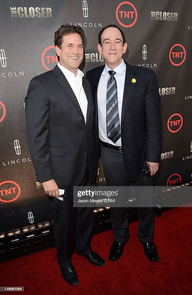 Producer James Duff (R) attends the special fan screening of TNT's 'The Closer' series finale held at The Roosevelt Hotel on August 7, 2012 in Hollywood, California.