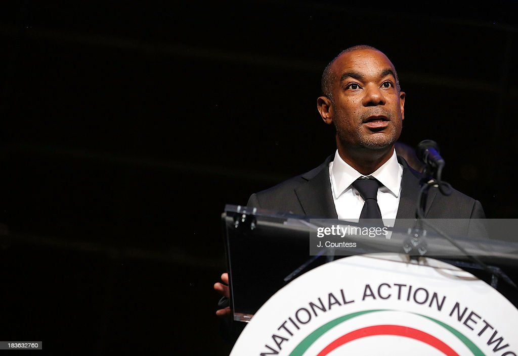 Producer James Lassiter speaks after accepting his Triumph Award during The 4th Annual Triumph Awards at Rose Theater, Jazz at Lincoln Center on October 7, 2013 in New York City.