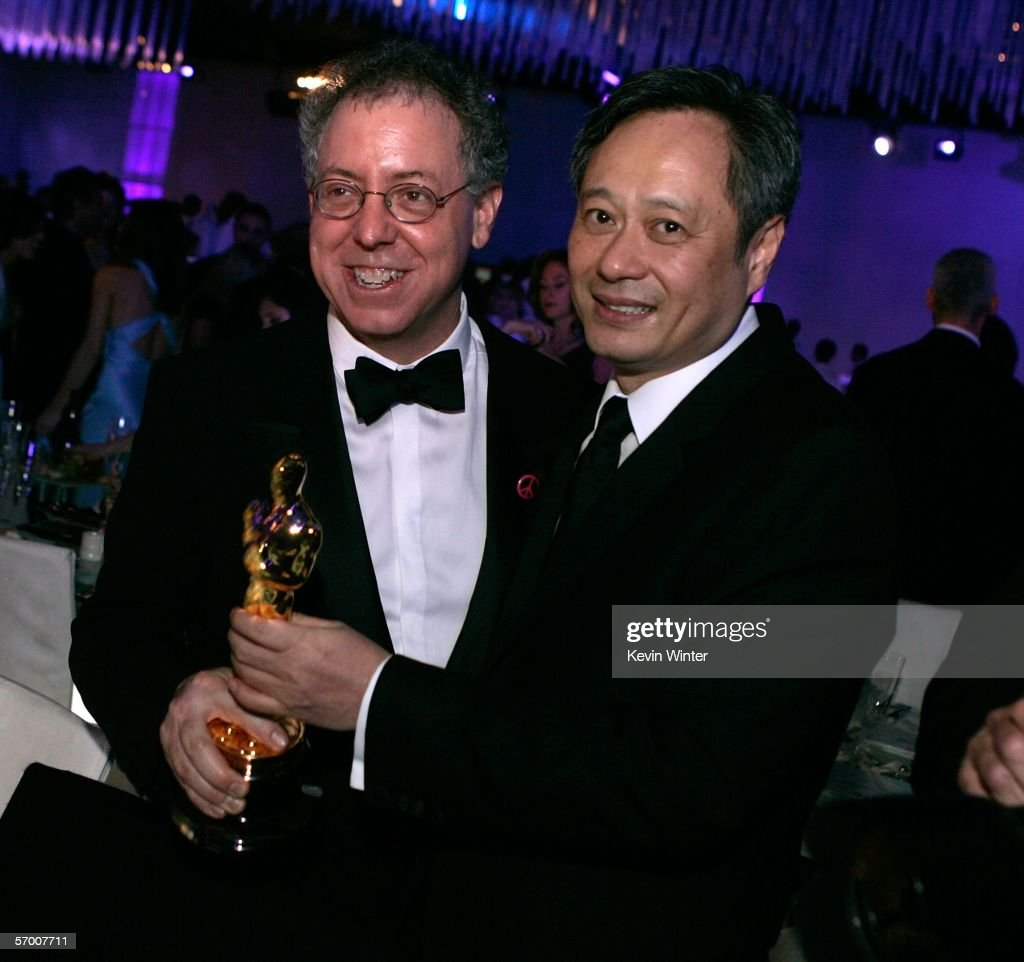 Producer James Schamus and director Ang Lee attend the Governor's Ball after the 78th Annual Academy Awards at The Highlands on March 5, 2006 in Hollywood, California.
