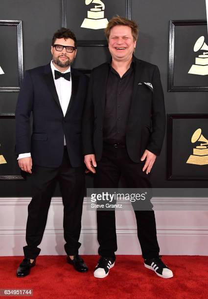 Producer James Teej and DJ Timo Maas attend The 59th GRAMMY Awards at STAPLES Center on February 12 2017 in Los Angeles California