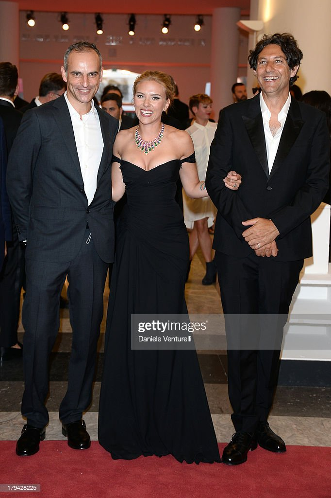Producer James Wilson, actress Scarlett Johansson and director Jonathan Glazer attend 'Under The Skin' Premiere during the 70th Venice International Film Festival at Sala Grande on September 3, 2013 in Venice, Italy.