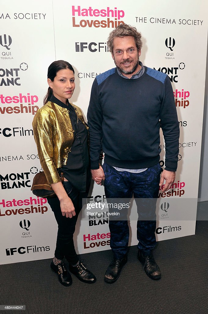 Producer Jamin O'Brien (R) attends IFC Films' 'Hateship Loveship' screening hosted by The Cinema Society and Montblanc at the Museum of Modern Art on April 8, 2014 in New York City.