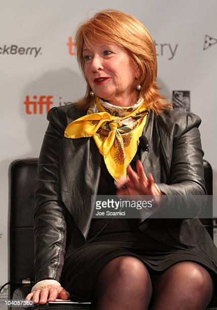 Producer Jan Chapman attends Focus On Cinematic Bedfellows during the 35th Toronto International Film Festival at Filmmaker's Lounge on September 14...