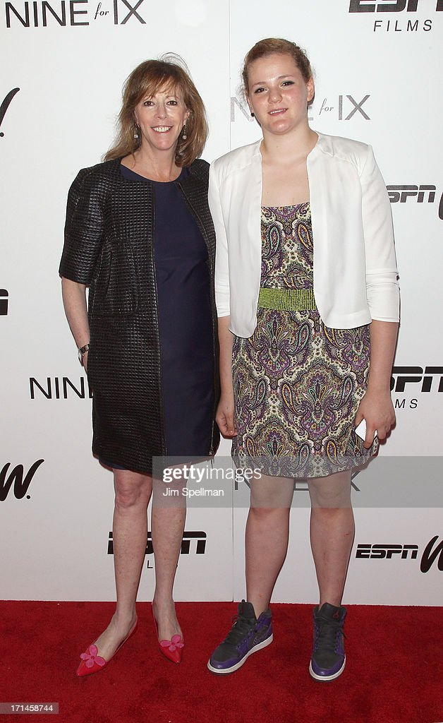 Producer Jane Rosenthal and daughter Juliana Hatkoff attend 'Venus Vs' and 'Coach' New York Special Screening at Paley Center For Media on June 24...