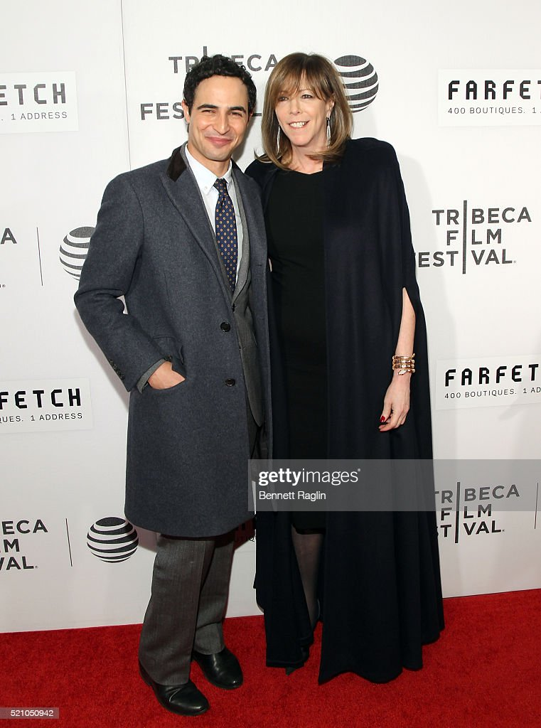 Producer Jane Rosenthal and designer Zac Posen attend 'The First Monday In May' World Premiere 2016 Tribeca Film Festival Opening Night at John...