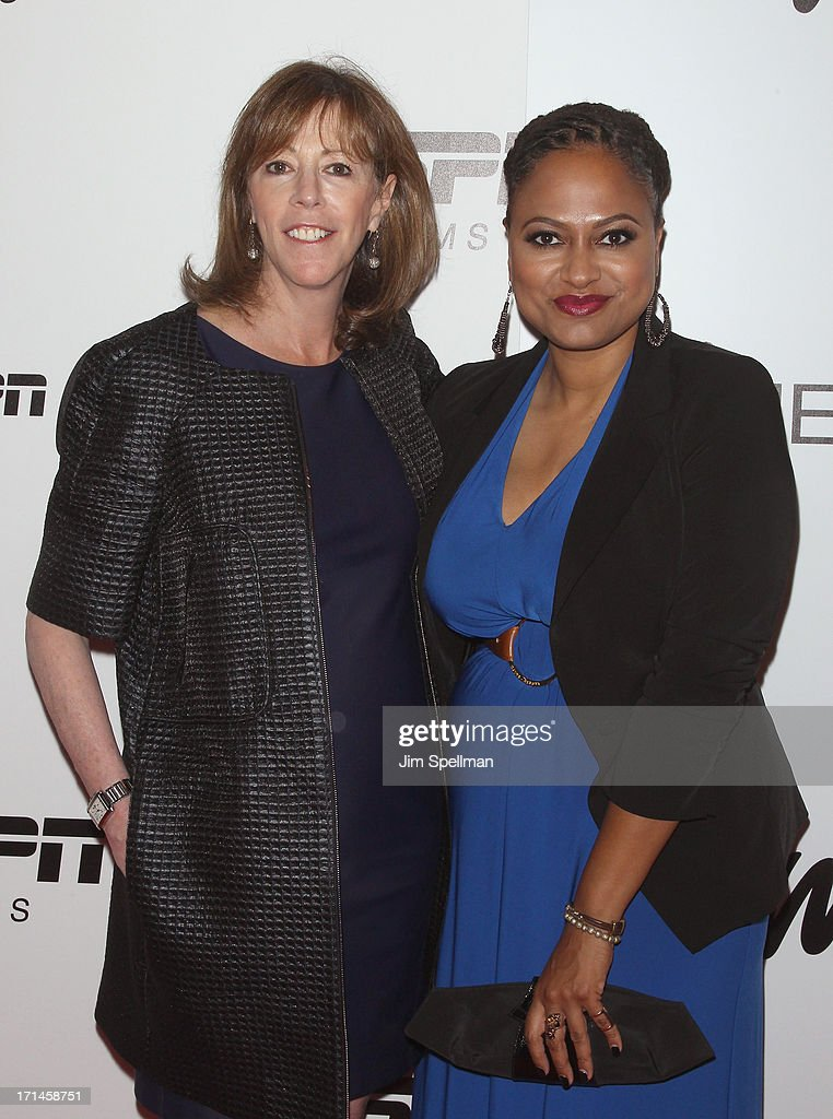 Producer Jane Rosenthal and director Director Ava DuVernay attend 'Venus Vs' and 'Coach' New York Special Screening at Paley Center For Media on June...