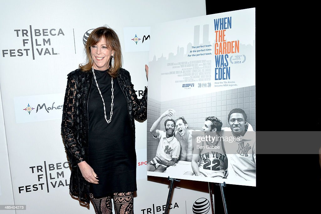 Producer <a gi-track='captionPersonalityLinkClicked' href=/galleries/search?phrase=Jane+Rosenthal&family=editorial&specificpeople=202835 ng-click='$event.stopPropagation()'>Jane Rosenthal</a> attends the Tribeca/ESPN Sports Film Festival Gala: 'When The Garden Was Eden' during the 2014 Tribeca Film Festival at BMCC Tribeca PAC on April 17, 2014 in New York City.