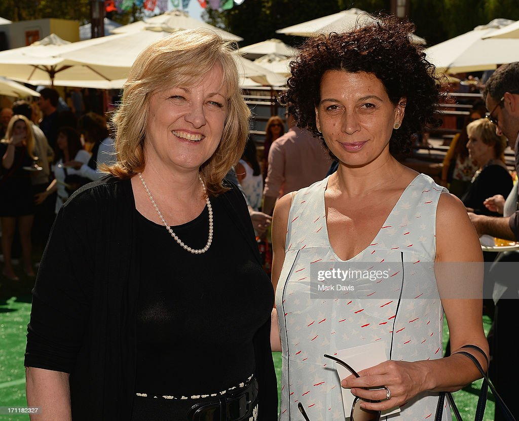 Producer Janet Healy (L) and Donna Langley, co-chairman of Universal Pictures attend the premiere of Universal Pictures' 'Despicable Me 2' after party held at Universal City on June 22, 2013 in Los Angeles, California.