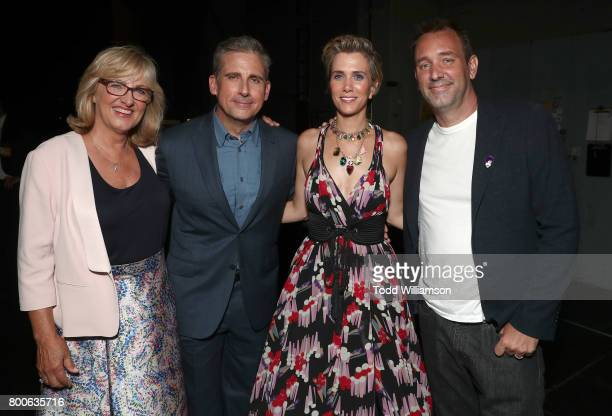 Producer Janet Healy Steve Carell Kristen Wiig and Trey Parker attend the Premiere Of Universal Pictures And Illumination Entertainment's 'Despicable...