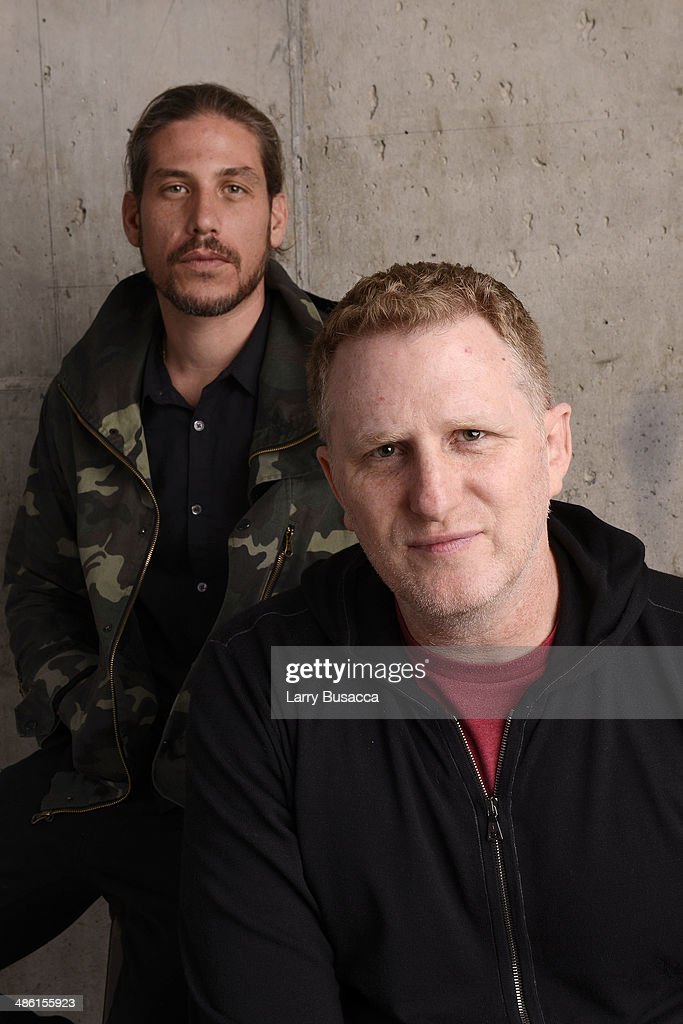 Producer Jason Bergh and director <a gi-track='captionPersonalityLinkClicked' href=/galleries/search?phrase=Michael+Rapaport&family=editorial&specificpeople=234353 ng-click='$event.stopPropagation()'>Michael Rapaport</a> from 'When the Garden Was Eden' pose at the Tribeca Film Festival Getty Images Studio on April 22, 2014 in New York City.