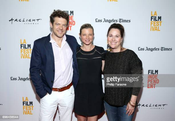 Producer Jason Blum actor Amy Smart and director Karen Moncrieff attend the screening of 'The Keeping Hours' during the 2017 Los Angeles Film...