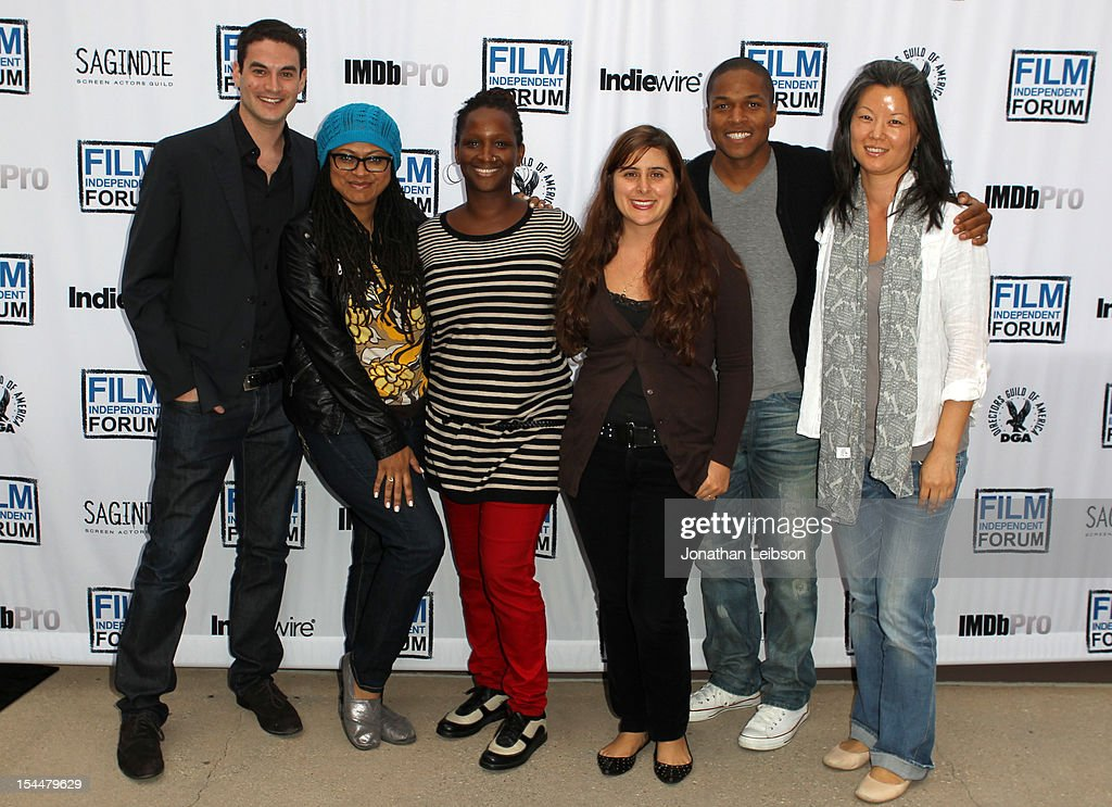 Producer Jason Michael Berman, Filmmaker Ava DuVernay, Producer Effie T. Brown, Writer/Director Maryam Keshavarz, Director Sheldon Candis and Producer Karin Chien attend the Film Independent Film Forum at Directors Guild of America on October 20, 2012 in Los Angeles, California.