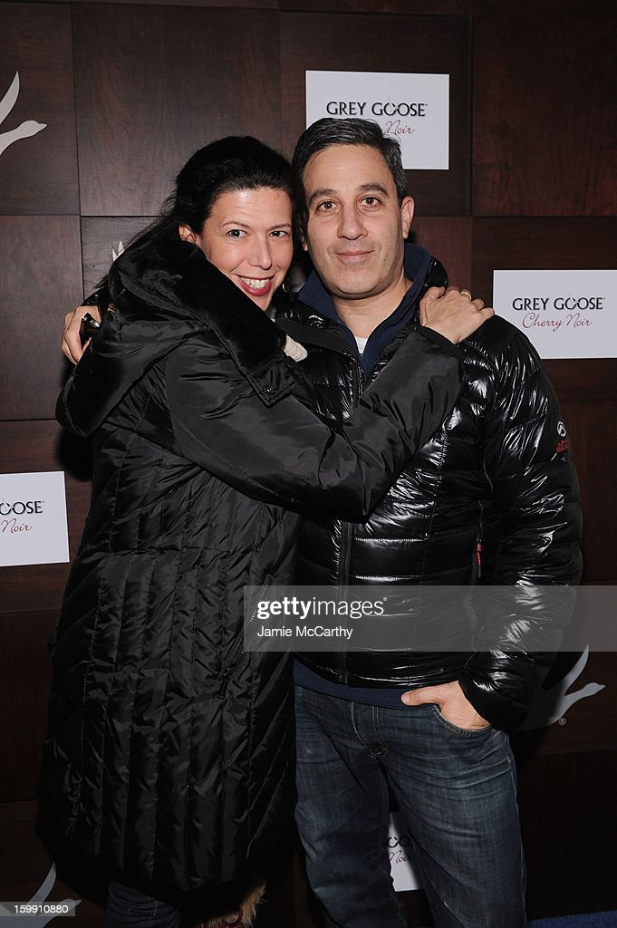 Producer Jason Weinberg (R) and Jen Levine attend the Grey Goose Blue Door 'Lovelace' Party on January 22, 2013 in Park City, Utah.